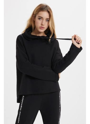 Loft Kapüşonlu Sweatshirt Siyah